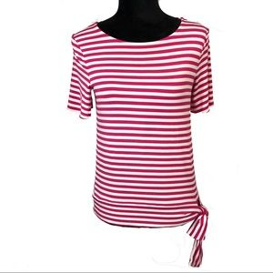 Talbot's Striped Top with Side Tie